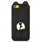 Cute Bear Style Silicone Back Case for Iphone 5C - Black