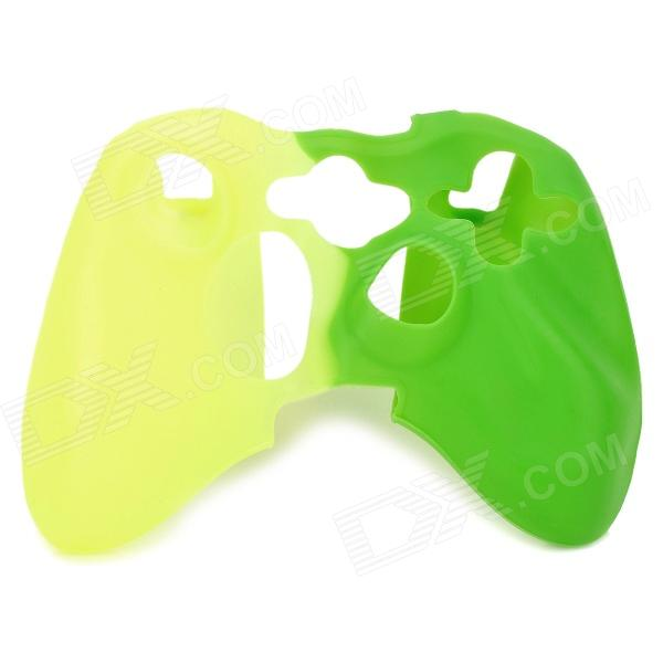 Protective Silicone Cover Case for Xbox 360 Controller - Yellow + Green protective silicone case for xbox one controller camouflage green