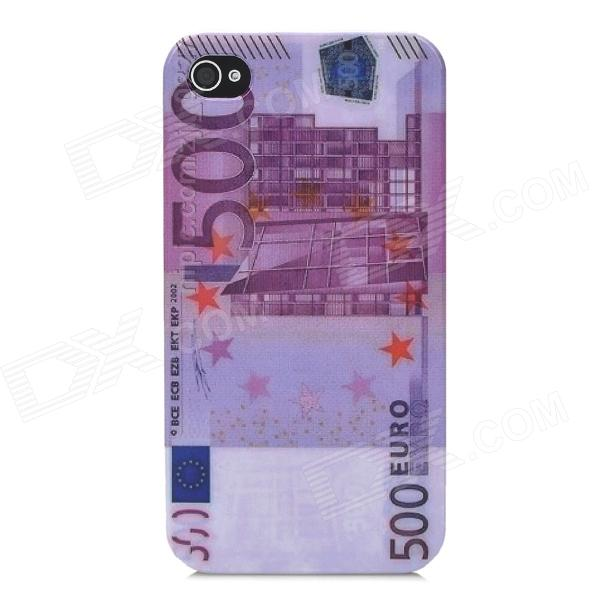 EUR 500 Pattern ABS Plastic Back Case for Iphone 4 / 4S - Multicolored stylish 3d eagle pattern protective abs pc back case for iphone 4 4s multicolored