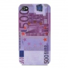 EUR 500 Pattern ABS Plastic Back Case for Iphone 4 / 4S - Multicolored