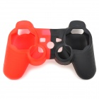 Protective Silicone Cover Case for PS3 Controller - Red + Black