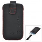 Protective PU Leather Case Punch for Samsung Galaxy S3 i9300 - Black