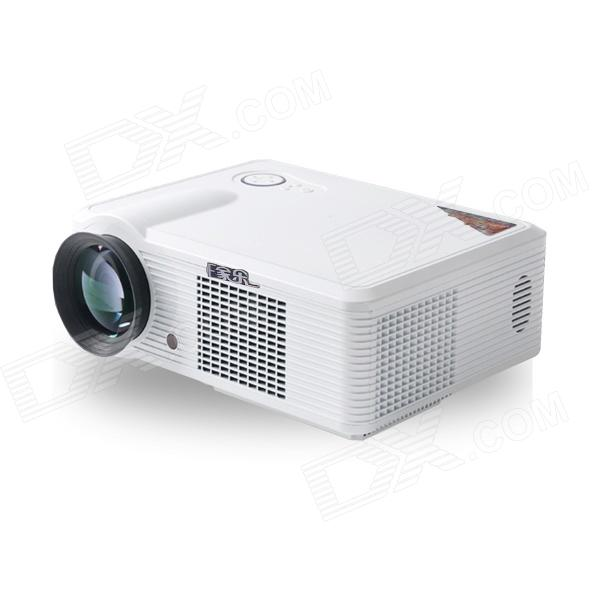 EJIALE 100W 2200lm LED Projector w/ Dual-HDMI, VGA, AV, USB, TV for Home Theater, Business, Shool