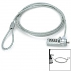 Kingsons KK9006 Security Combination Cable Lock for Laptop Notebook - Silver (150cm)