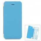 Folding Protective TPU + PU Leather Case for Iphone 5C - Blue