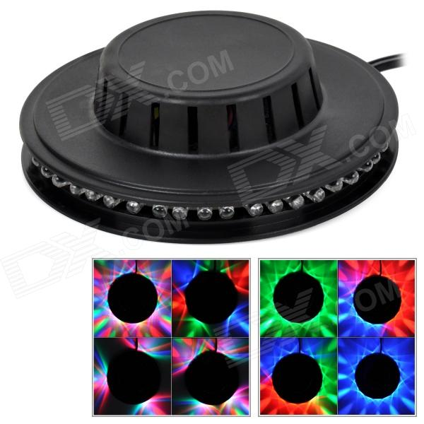 JTA03 8W 48-LED RGB Round Light w/ Controller / EU Plug - Black