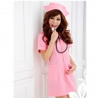 Sexy Cosplay Nurse Dress up - Pink (Free Size)
