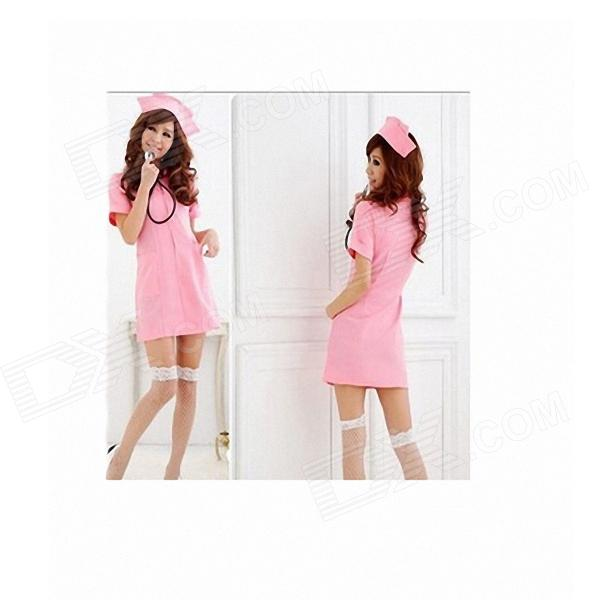 Sexy Cosplay Nurse Dress up - Pink (Free Size) - Free Shipping ...