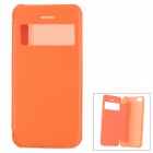 Protective PVC + PC Case w/ Display Window for Iphone 5C - Orange
