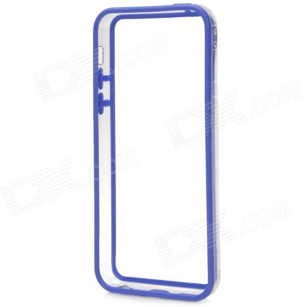 Stylish Plastic + TPU Bumper Frame Case for Iphone 5C - Blue stylish protective plastic bumper frame case for iphone 5c beige black