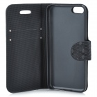 Stylish Protective PU Leather Case for Iphone 5C - Black
