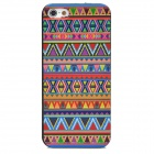 Triangles Pattern Stylish Plastic Back Case for Iphone 5 - Multicolored