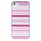 Lace Pattern Plastic Back Case for Iphone 5 - Multicolored