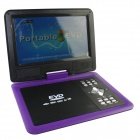 "FJD-760 Portable 9"" LCD Mobile DVD Player w/ TV, FM, SD Card Reader, Game and USB - Purple"