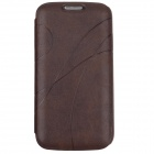 Stylish Protective PU Leather Case Cover for Samsung Galaxy S4 i9500 - Brown