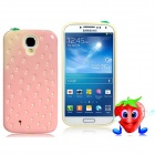 Strawberry Design Plastic & Silicone Protective Case for Samsung Galaxy S4 / i9500 - Pink