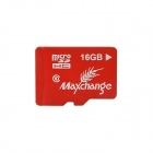 MAXCHANGE Micro SDHC TF Memory Card - Red + White (16 GB / Class 10)