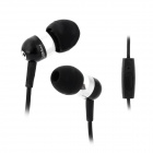 JBM A8 Stylish In-Ear Bass Earphones w/ Microphone for Iphone / Samsung / HTC - Silver + Black