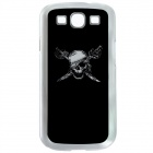 CAPF 9300A01 Skull Calling Flash RGB LED Plastic Back Case for Galaxy S III i9300 - Black