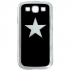 CAPF 9300A02 Star Calling Flash RGB LED Plastic Back Case for Samsung Galaxy S3 i9300 - Black
