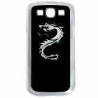 CAPF 9300A03 Dargon Calling Flash RGB LED Plastic Back Case for Samsung Galaxy S3 i9300 - Black