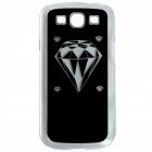 CAPF 9300A04 Diamond Calling Flash RGB LED Plastic Back Case for Samsung Galaxy S3 i9300 - Black