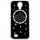 CAPF 9500A01 Zodiac Calling Flash RGB LED Plastic Back Case for Samsung Galaxy S4 / i9500 - Black