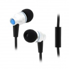 AWEi TE-800i Stylish In-Ear Earphones w/ Microphone for Samsung Note 2 / S3 / S4 - Silver + Black