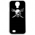 CAPF 9500A05 Skulls Calling Flash RGB LED Plastic Back Case for Samsung Galaxy S4 / i9500 - Black