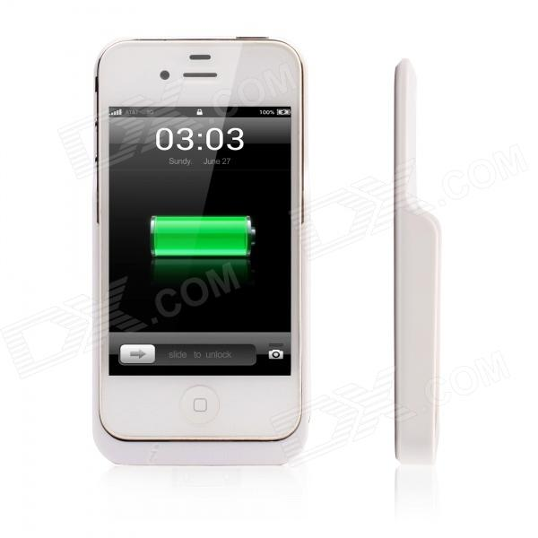 MOCREO Qi-Enabled Standard Wireless Charging Jacket Receiver Charger Back Case for iPhone 4 / 4S