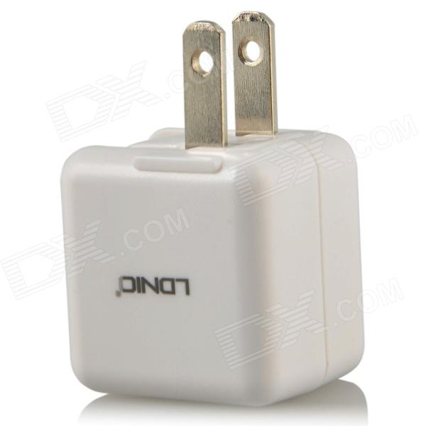 LDNIO DL-AC100 AC Power Charger Adapter for Iphone - White (US Plug / 100~240V) buro q5 microusb 1a