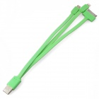 Lightning 8-Pin / 30-Pin / Micro USB Male to USB 2.0 Male Data Sync / Charging Cable - Green (16cm)