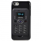 "Aierma Protective Plastic Mobile Phone Card Case w/ 1.0"" Screen Quad-Band FM for Iphone 5 - Black"