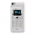 "Aierma Protective Plastic Mobile Phone Card Case w/ 1.0"" Screen Quad-Band FM for Iphone 5 - White"