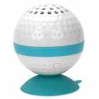 KHF301 Mini Golf Ball Shape Bluetooth V3.0 Music Speaker - Blue + White