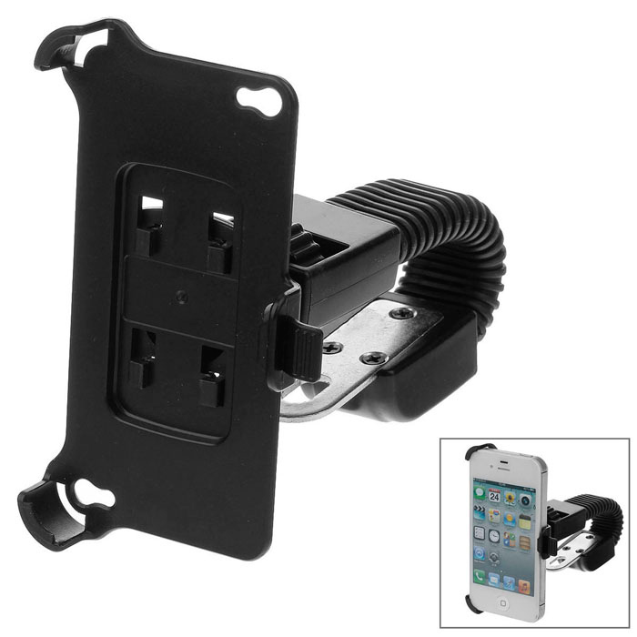M08 360 Degree Rotation Scooter Bracket for Iphone 4 / 4S - Black
