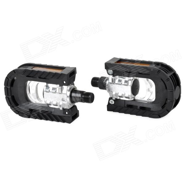 90 Degree Flipping Bicycle Pedals - Black + Silver (2 PCS) mtb mountain road dh fr bmx fixed gear cycling bicycle bike pedal 9 16 in titanium axle alloy body 3 sealed bearing 100 95 17mm