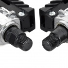 90 Degree Flipping Bicycle Pedals - Black + Silver (2 PCS)