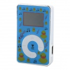 "KD-MP3-11-DAIPING-LANLANSE 0.9"" LCD MP3 Player w/ TF / Mini USB - White + Blue + Silver"
