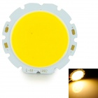 10W 1000lm 3200K COB LED Warm White Light Board - Silber + Gelb (32-36V)