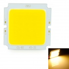 15W 1500lm 3200K LED Warm White Light Board - Silver + Yellow (48-54V)