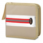 Portable CD Storage Management Bag w/ Strap - Beige + Red + Silver