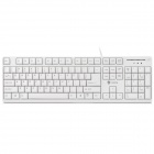 i-Rocks KR-6260 USB Wired 104-Key Gaming Keyboard - White