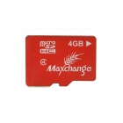 MAXCHANGE Micro MicroSDHC TF Memory Card - Red + White (4GB / Class 10)