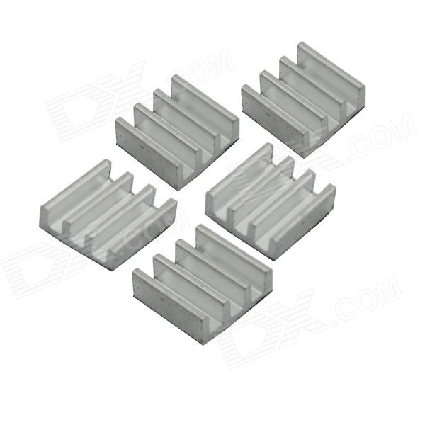 Jtron 1.1 x 1.1 x 0.55cm Aluminum Power Supply Module Heat Sink - Silver (5 PCS) high power 200x99x45mm pure aluminum extruded heatsink cooler heat sink radiator for chip led electronic cooling diy