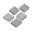 Jtron 1.1 x 1.1 x 0.55cm Aluminum Power Supply Module Heat Sink - Silver (5 PCS)