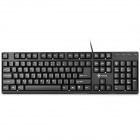 i-Rocks KR-6260 USB Wired 104-Key Gaming Keyboard - Black