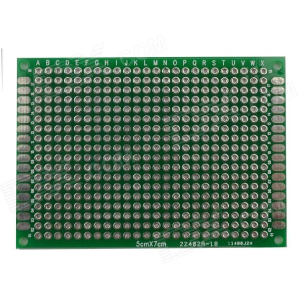 Jtron 03100392 Universal Double-Sided PCB Board - Green (5 x 7cm) 6 in 1 double sided pcb prototype boards set green