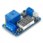 Círculo Display LED digitosal Delay Módulo Tempo Relay - Azul (12V)