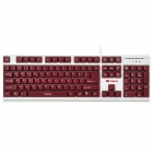 i-Rocks IK3-WE USB Wired 104-Key Gaming Keyboard - Maroon + White